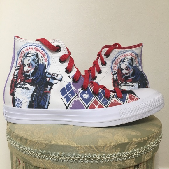 Suicide Squad Harley Quinn Converse High Tops